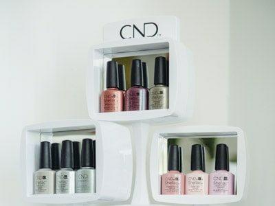 Auswahl CND Nagellack im Kosmetikstudio Sendling
