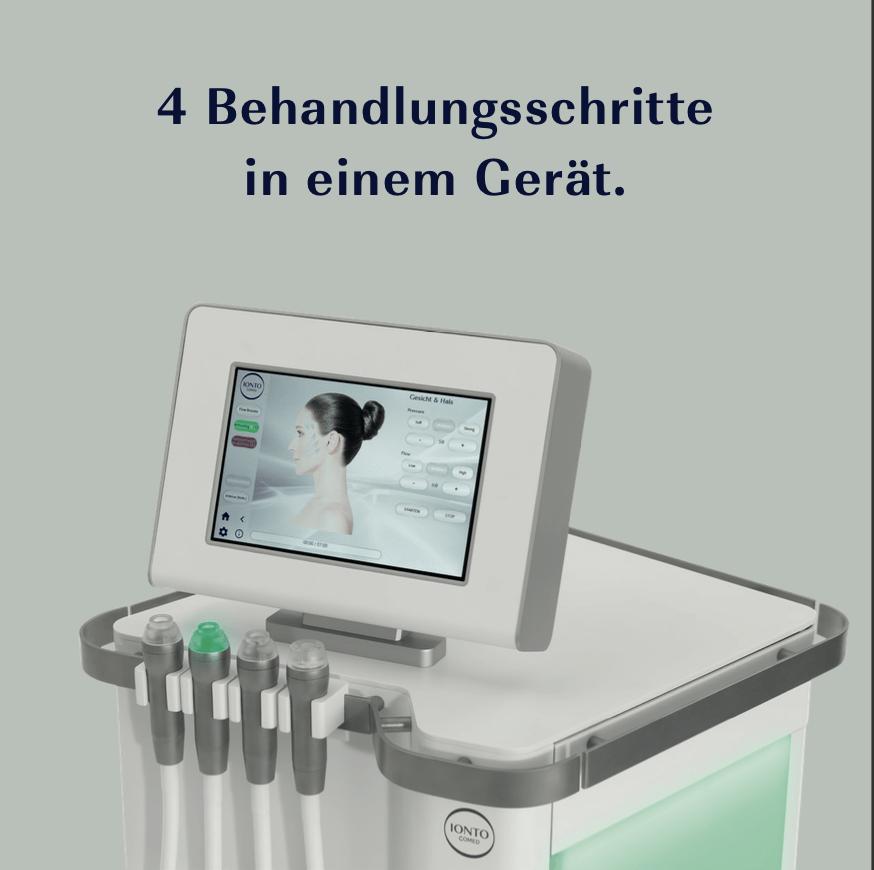 Anwendungsschritte der GlowSolution im Kosmetikstudio Sendling