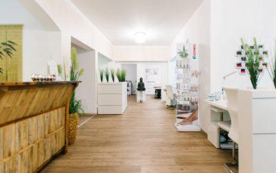 Wartebereich im Brummer Kosmetikstudio Sendling