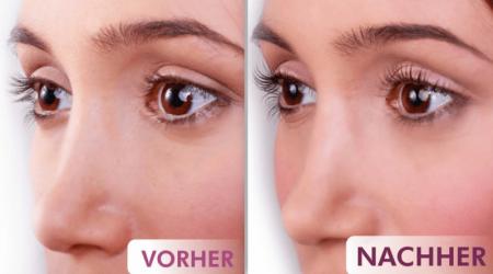 Bild von Frau: Wimpernwelle vorher nachher im Kosmetikstudio Sendling